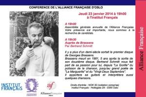 Alliance française Auprès de Brassens 23 janvier 2014